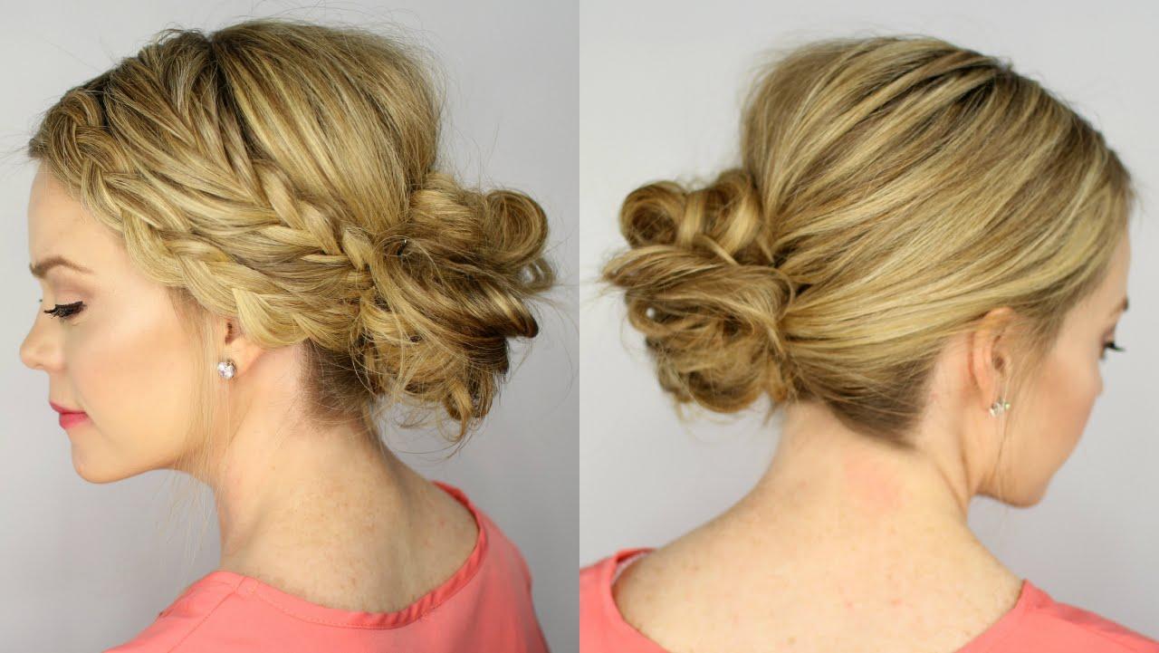 Dutch braid hairstyles dutch braid with a messy bun