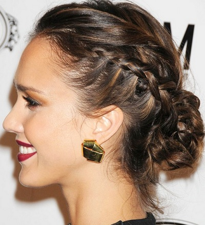 Dutch braid hairstyles dutch braid with a royal high;ighted bun
