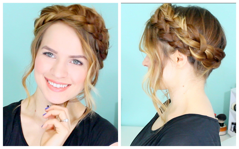 Dutch braid hairstyles dutch braided head band with bangs
