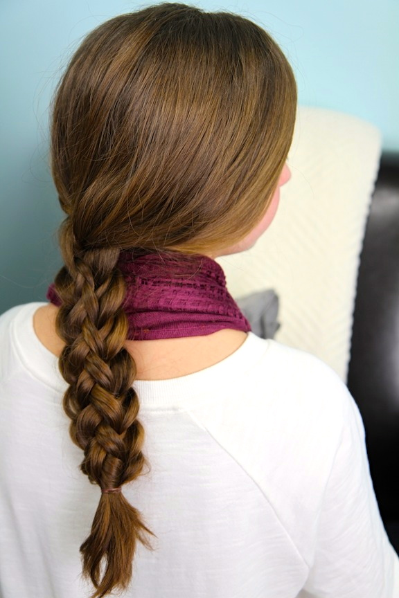 Dutch braid hairstyles low loose simple dutch braid pony tail