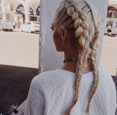 Dutch braid hairstyles pig tail dutch braid