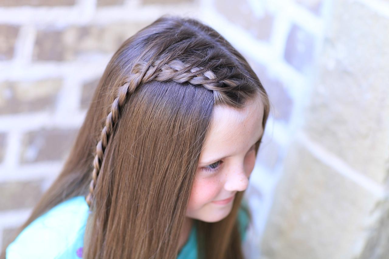 Dutch braid hairstyles straight opened hair with a side dutch braid