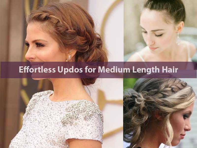 Effortless Updos for Medium Length Hair