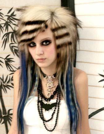 Funny Hairstyles for Girls animal print