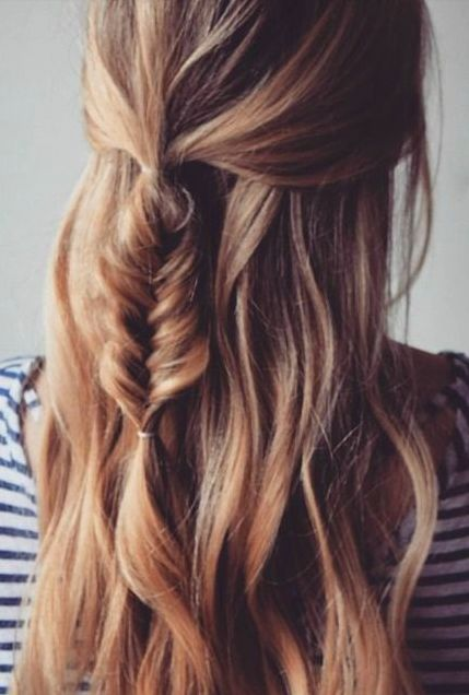 Half ponytail Half simple braided ponytail