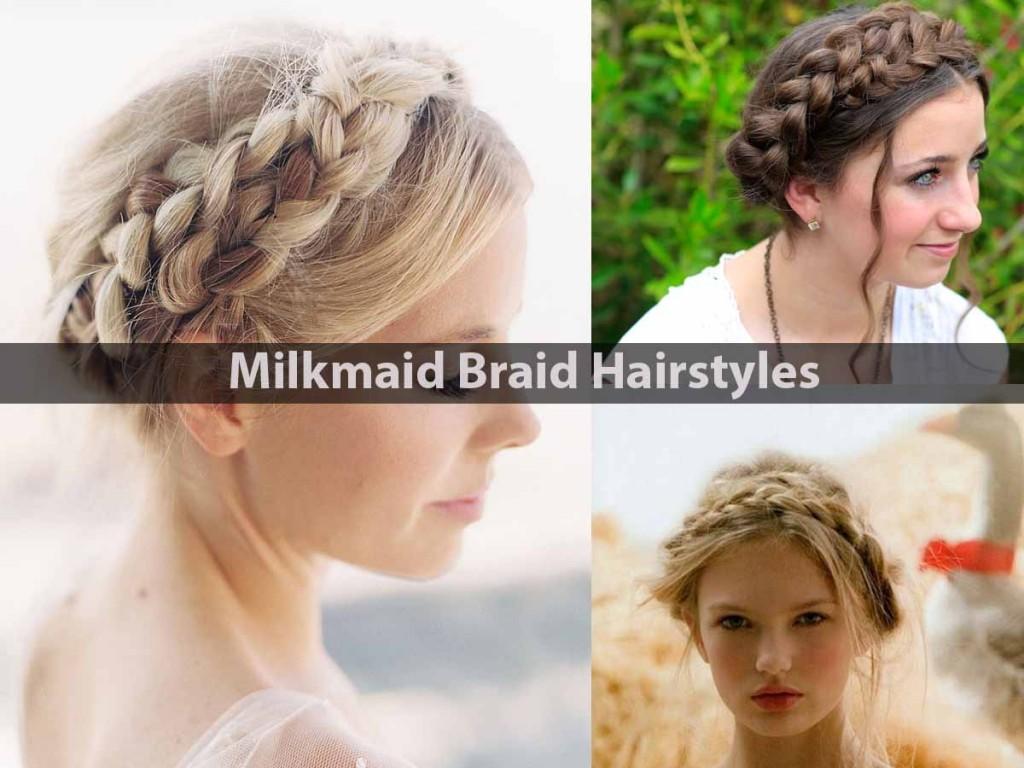 Milkmaid Braid Hairstyles