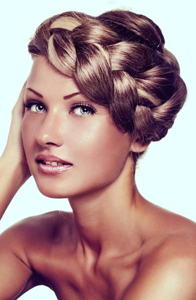 Milkmaid Braid Hairstyles for Women milk maid braid in a loose swept way