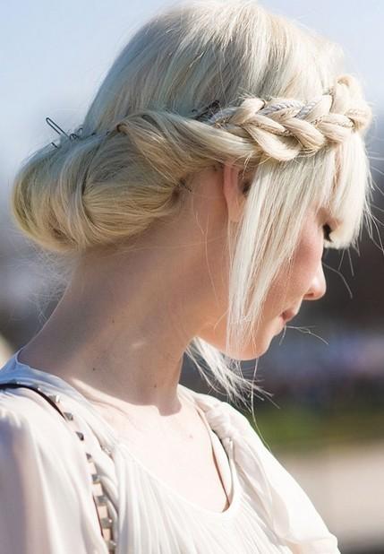 Milkmaid Braid Hairstyles for Women milk maid braid with a twisted bun