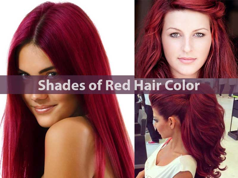 Shades of Red Hair Color