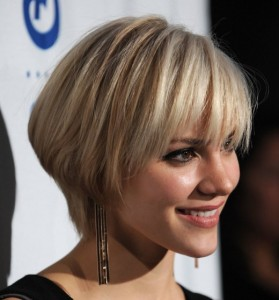 Short Choppy Fluffy Hairstyles straight angled cropped bob cut