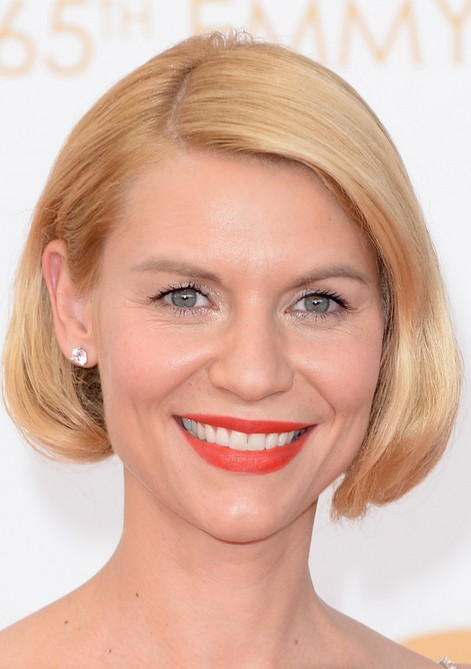 Slight and easy morning hairstyles Straight slicked bob cut