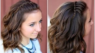 Trendy cute hairstyles for girls are braided band look