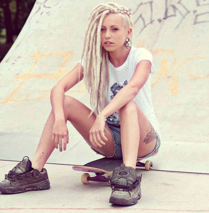 Under Cut Hairstyles for Girls long dreads with under shaved