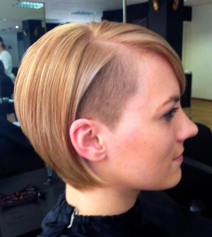 Under Cut Hairstyles for Girls short straigh bob cut with front crop