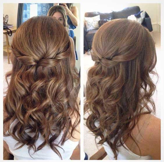 Updo-for-Medium-Length-Hair-Half-up-do-with-braided-knots