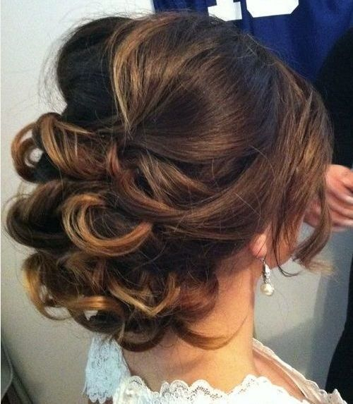 Updo for Medium Length Hair Loose curly updo