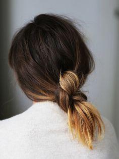Updo for Medium Length Hair Perky ponytail