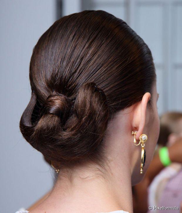 Updo for Medium Length Hair Sleek formal bun updo