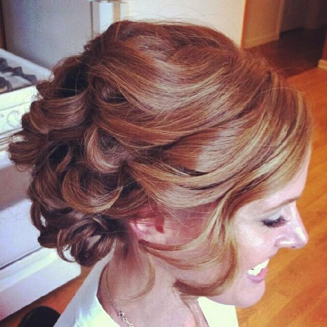 Updo for Medium Length Hair Soft wavy updo