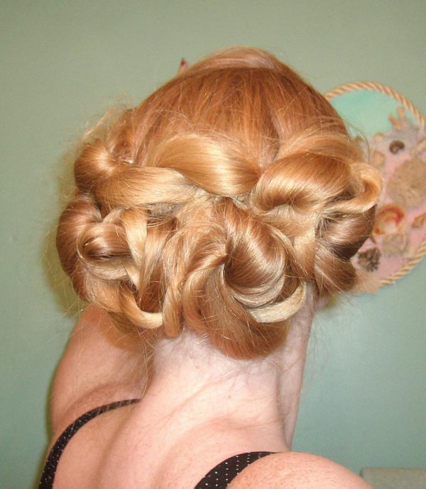 Updo for Medium Length Hair Vintage wavy updo