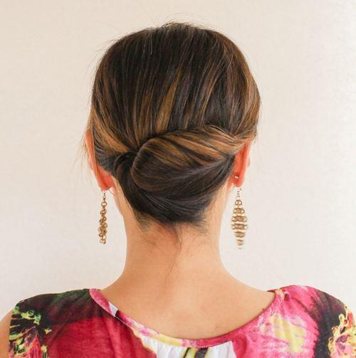Updo for medium length hair Ballerina updo