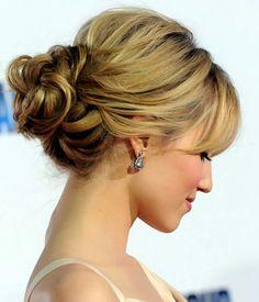 Updo for medium length hair Bold braided updo