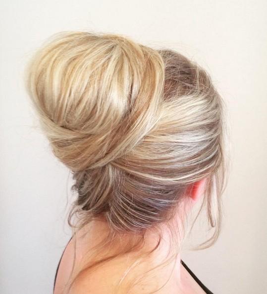 Updo for medium length hair Chic chignon