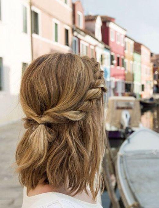 Updo for medium length hair Chromatic medium hairstyle