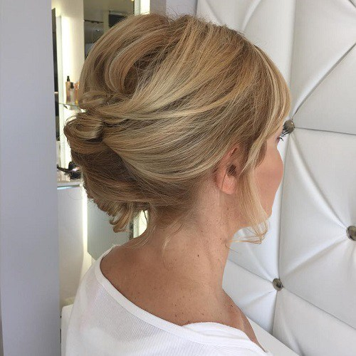 Updo for medium length hair Flawless French roll updo