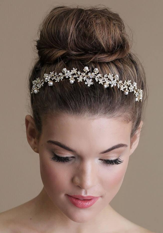 Updo for medium length hair Head band updo