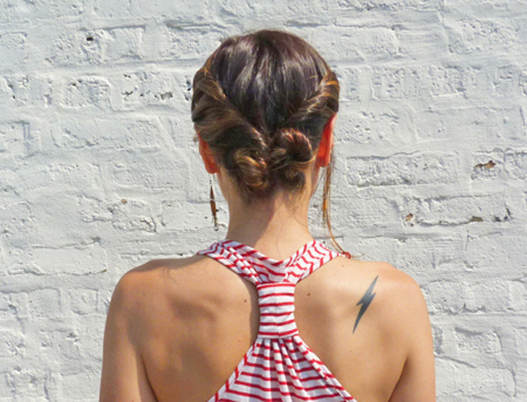 Updo for medium length hair Quick twisted updo