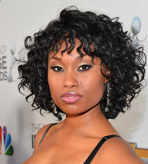 african american short hairstyle for women over 40 Short coal black ringlets