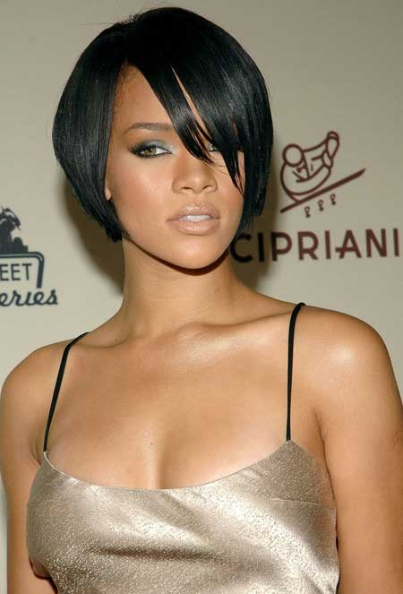 african american short hairstyle for women over 40 Short straight sleeked bob
