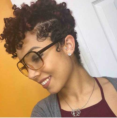 curly hairstyle for black women Nape undercut