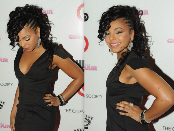 curly hairstyle for black women Party black style