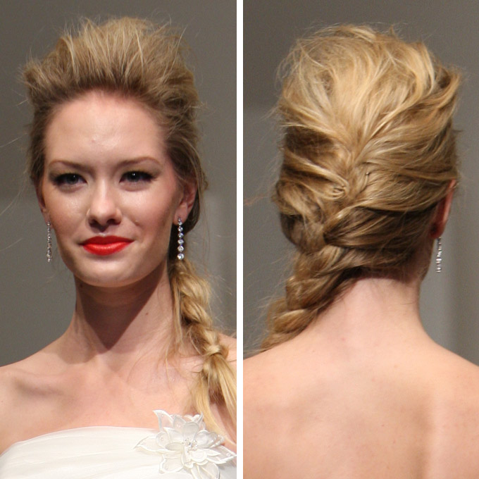 easy hairstyles with braids puffed up side braided ponytail