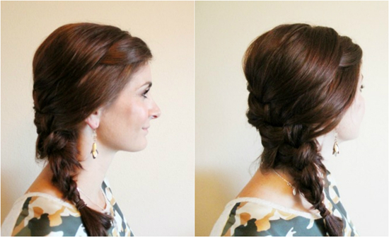 easy hairstyles with braids short side braided ponytail