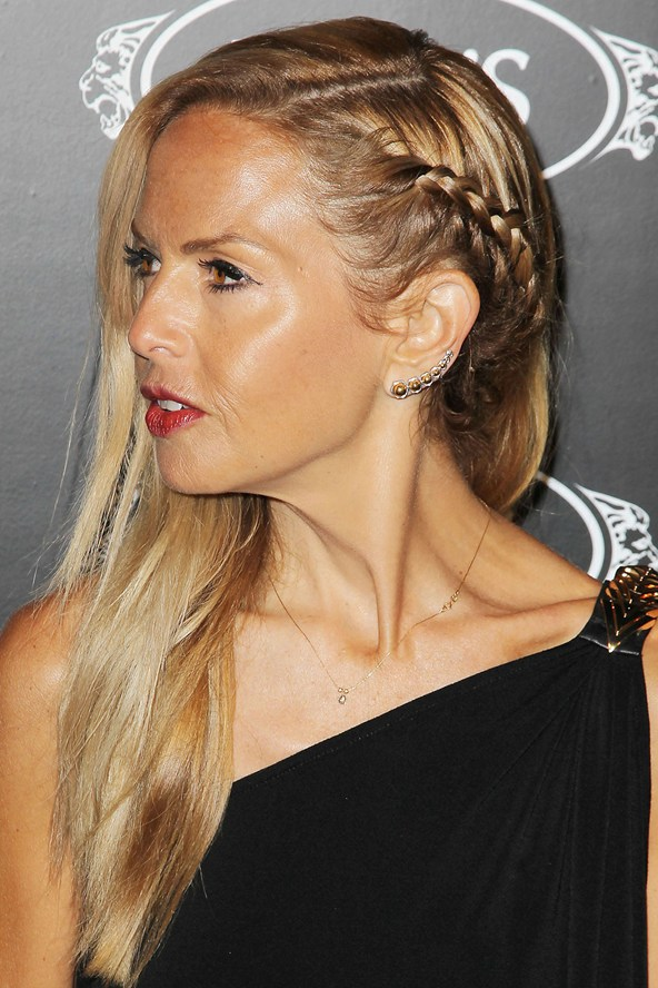 easy hairstyles with braids side swept hair with braids