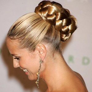 easy hairstyles with braids sleeked back braided bun