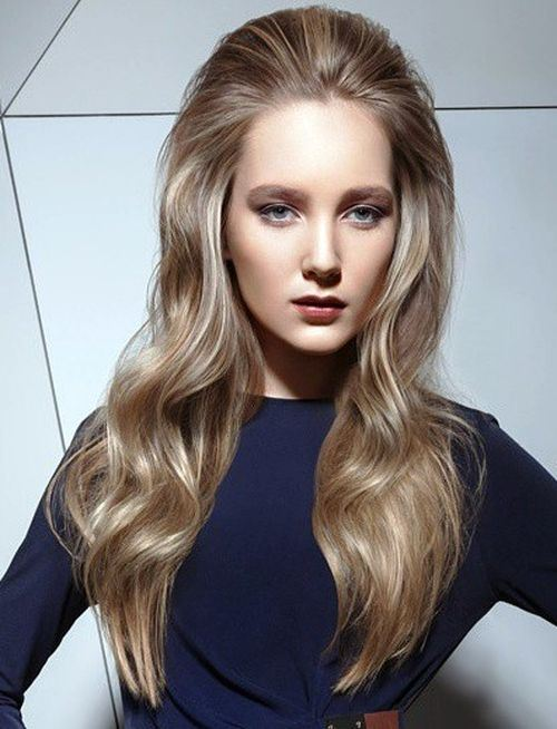 hairstyles for long faces Ash blonde haircut