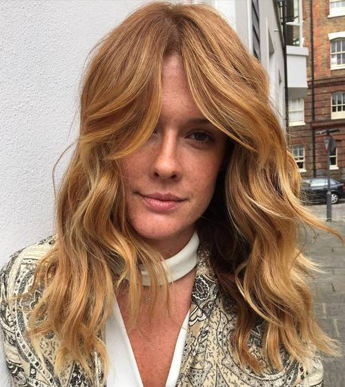 hairstyles for long faces Imperfect texture