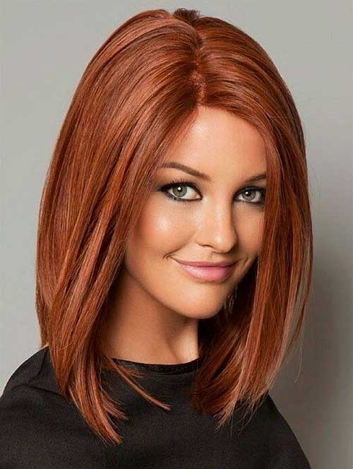 hairstyles for long faces Straight sleek layered haircut