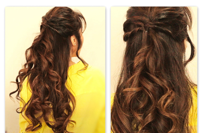 half ponytail Twisted half up