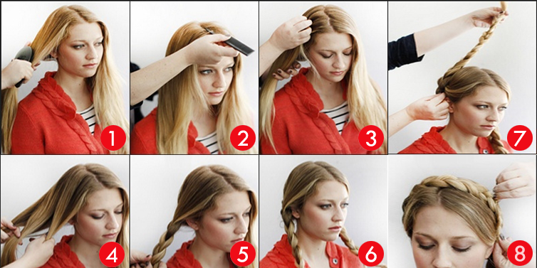 how to do a milk maid braid..