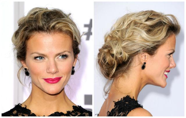 messy updo hairstyles Low rolled bun messy updo