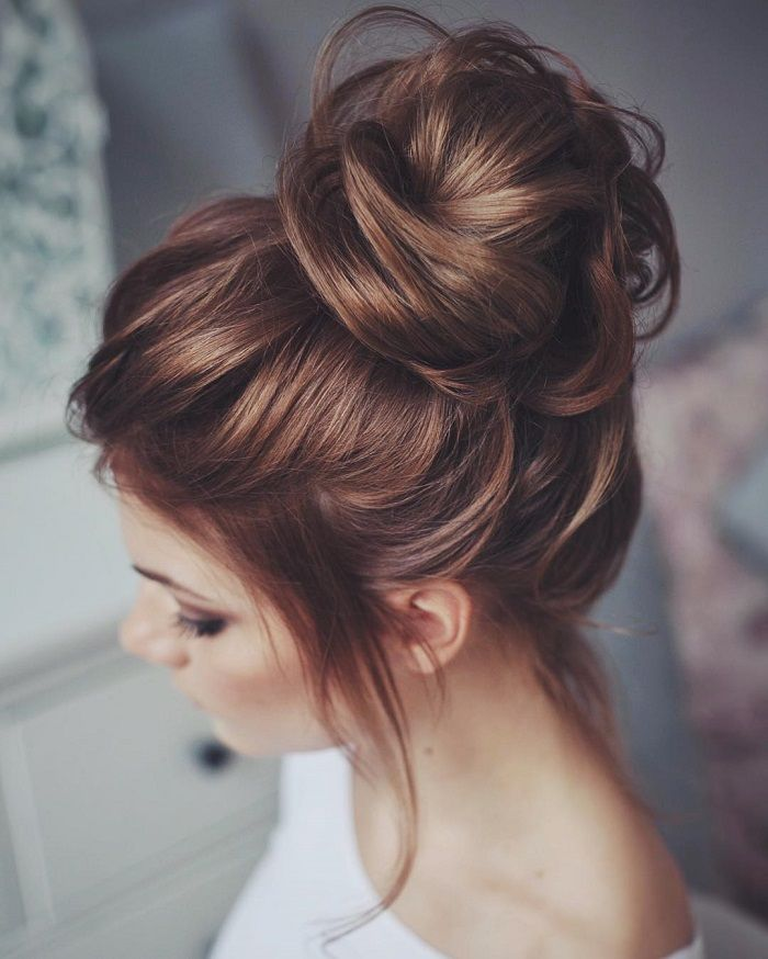 messy updo hairstyles Messy updo with bun