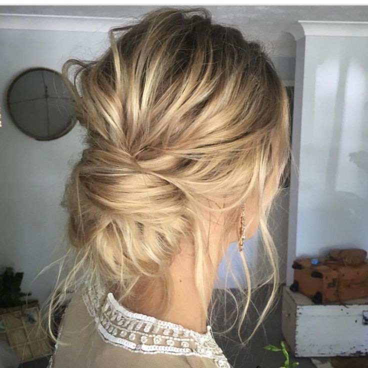 messy updo hairstyles Rough messy updo
