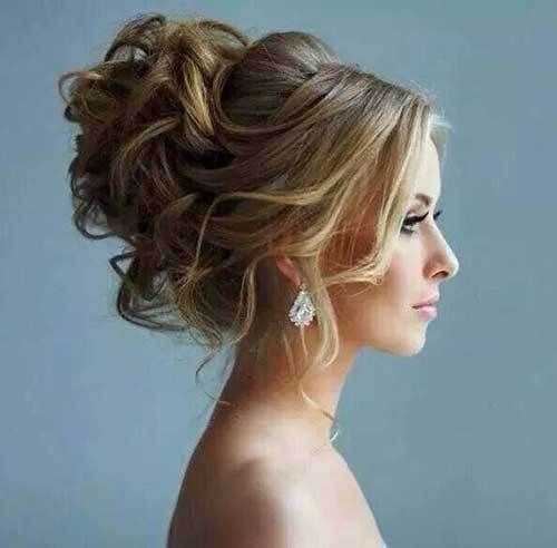 messy updo hairstyles Updo with twist