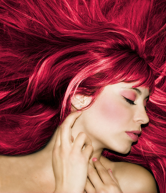 vibrant shades of red hair color Cooper red