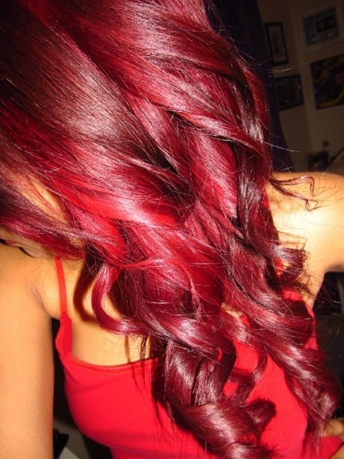 vibrant shades of red hair color Crimson